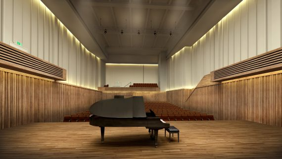 CGI of the completed Stoller Hall